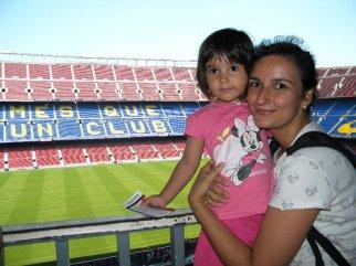 Cu Ilinca pe stadionul Barcelonei