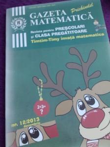 Ultimul numar din Gazeta Matematica pe care si l-a cumparat Ilinca de la scoala