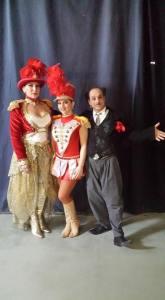 Familia Andreescu-Lazăr la primul spectacol în care au apărut împreună